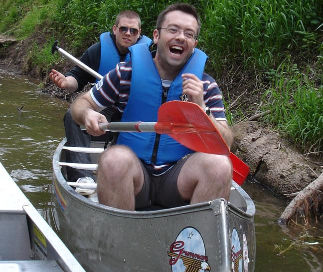 Canoeing with a Stag Group in the Forest of Dean