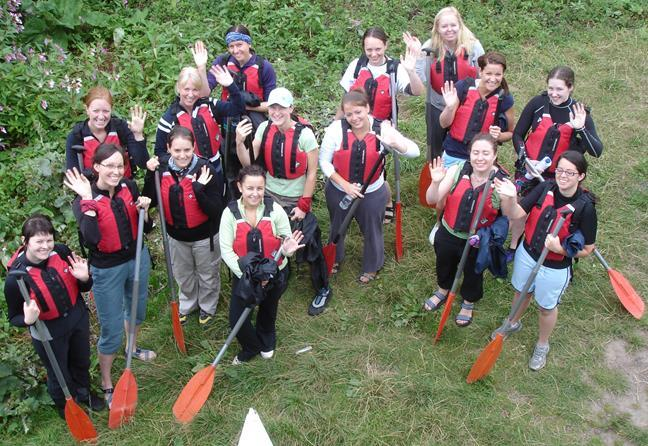 Canoing with a Hen Party in Monmouthshire