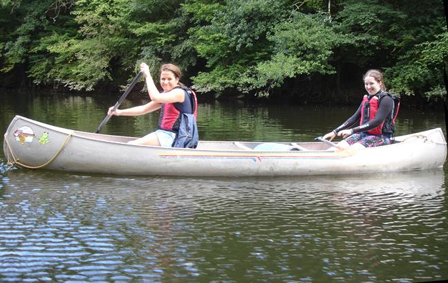 Canoeing with a Hen Party in Wales