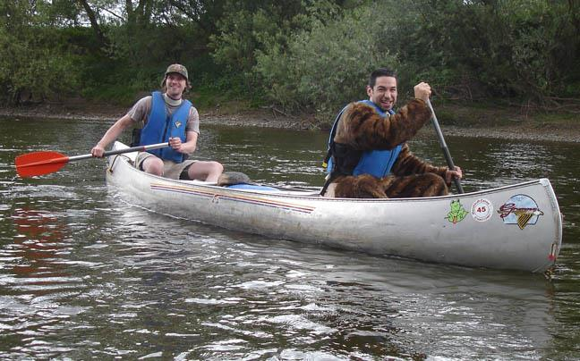 Outdoor Activities - Canoeing Monkey in the Wye Valley