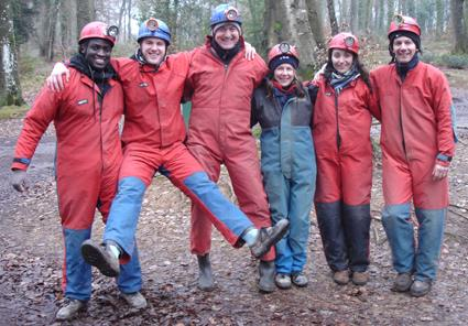 Caving group ready for a full day caving and potholing