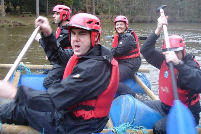 Corporate Events - Team Building in the Wye Valley, raft building in Wales