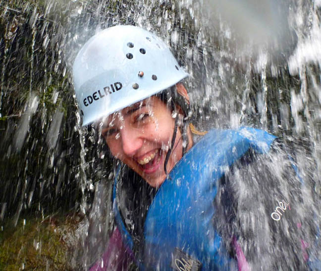 Outdoor Activities - Gorge Scrambling in Wales - Mixed group Gorge Walking in the Brecon Beacons