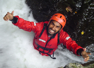 outdoor activities - gorge walking wales