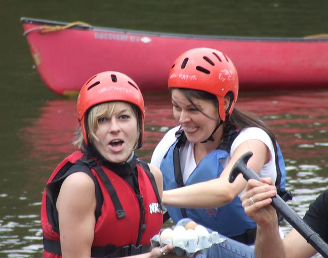 Corporate Events - Raft Building, Team Building in Monmouthshire