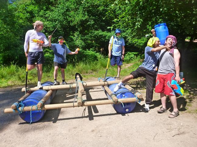 Raft Building - Company Team Building in Monmouthshire