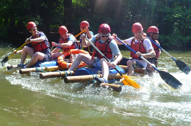 Raft Building- Management Training in Wales