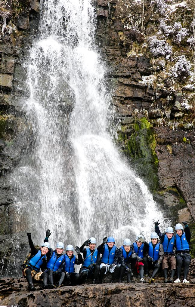 Stag Party Activities - Gorge Walking in the Brecon Beacons, Wales