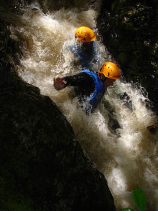 Outdoor Activities - Gorge Scrambling in Wales and the Brecon Beacons